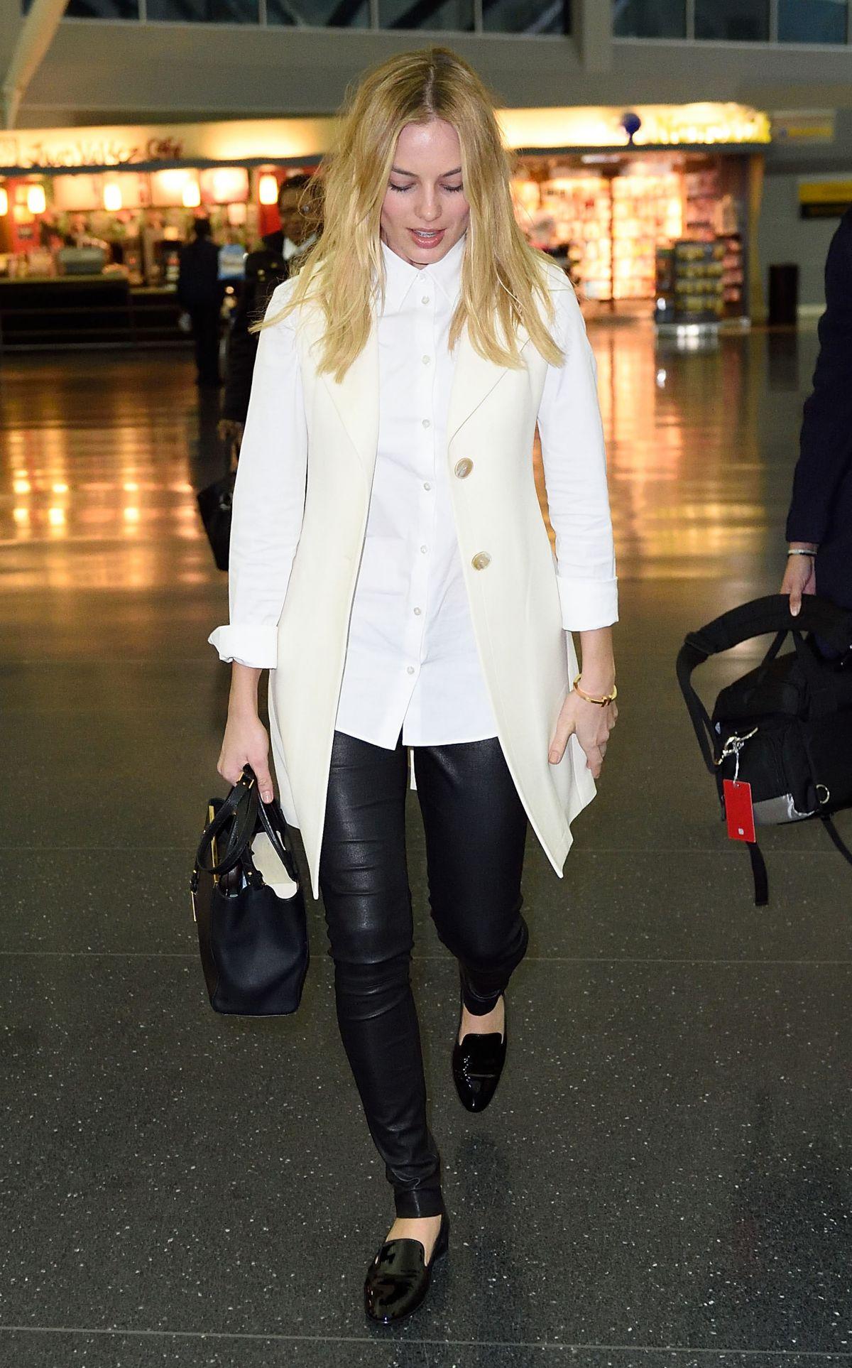 MARGOT ROBBIE at JFK Airport in New York 02/29/2016