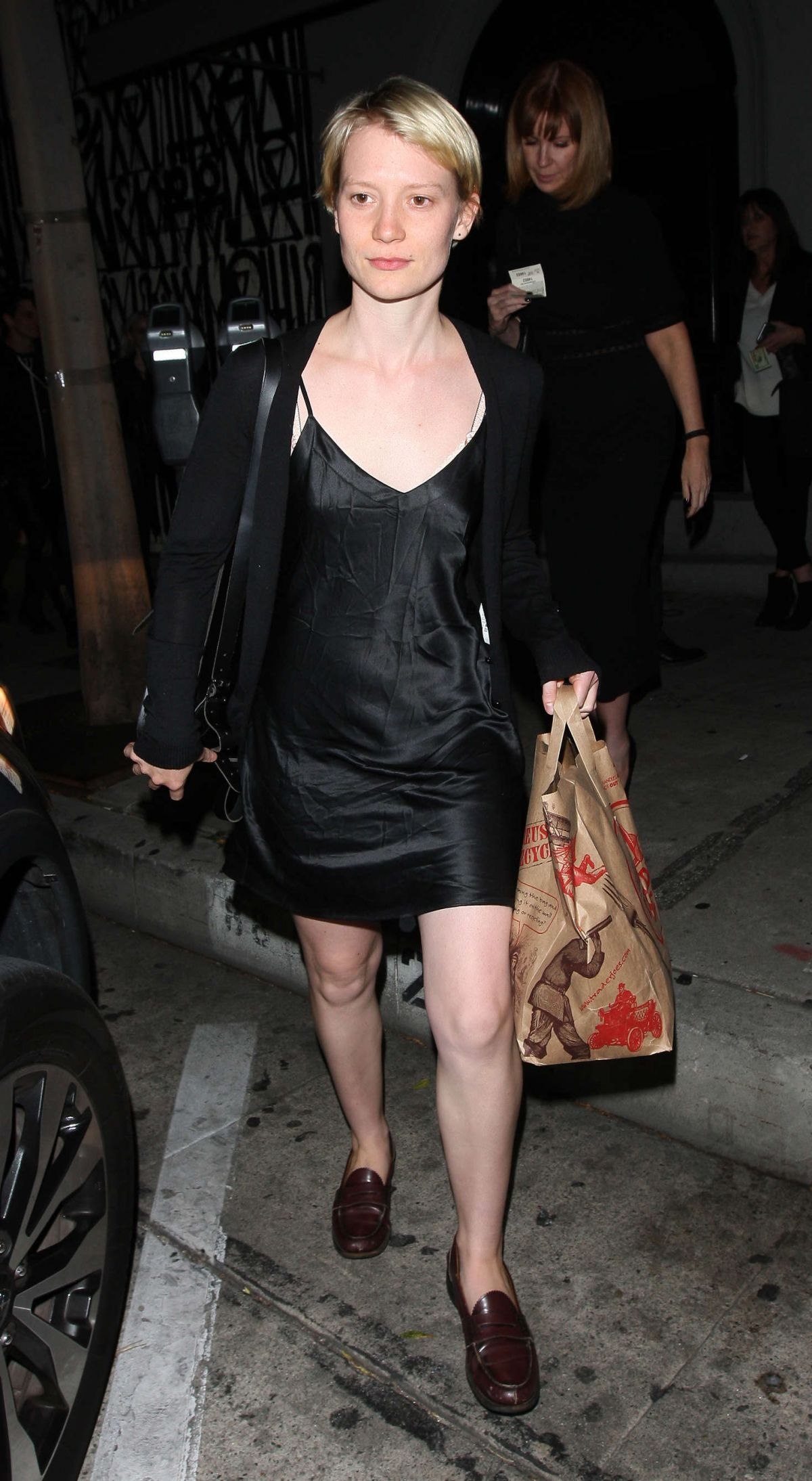 MIA WASIKOWSKA Leaves Craig's Restaurant in West Hollywood 03/11 ...