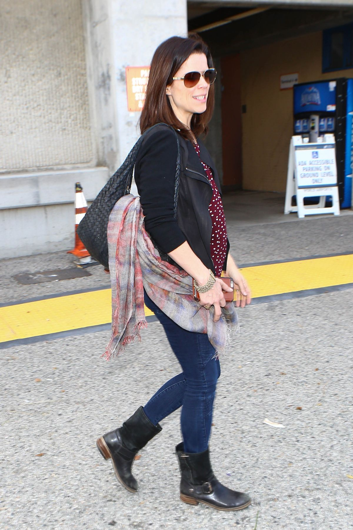 NEVE CAMPBELL at Los Angeles International Airport 03/07/2016
