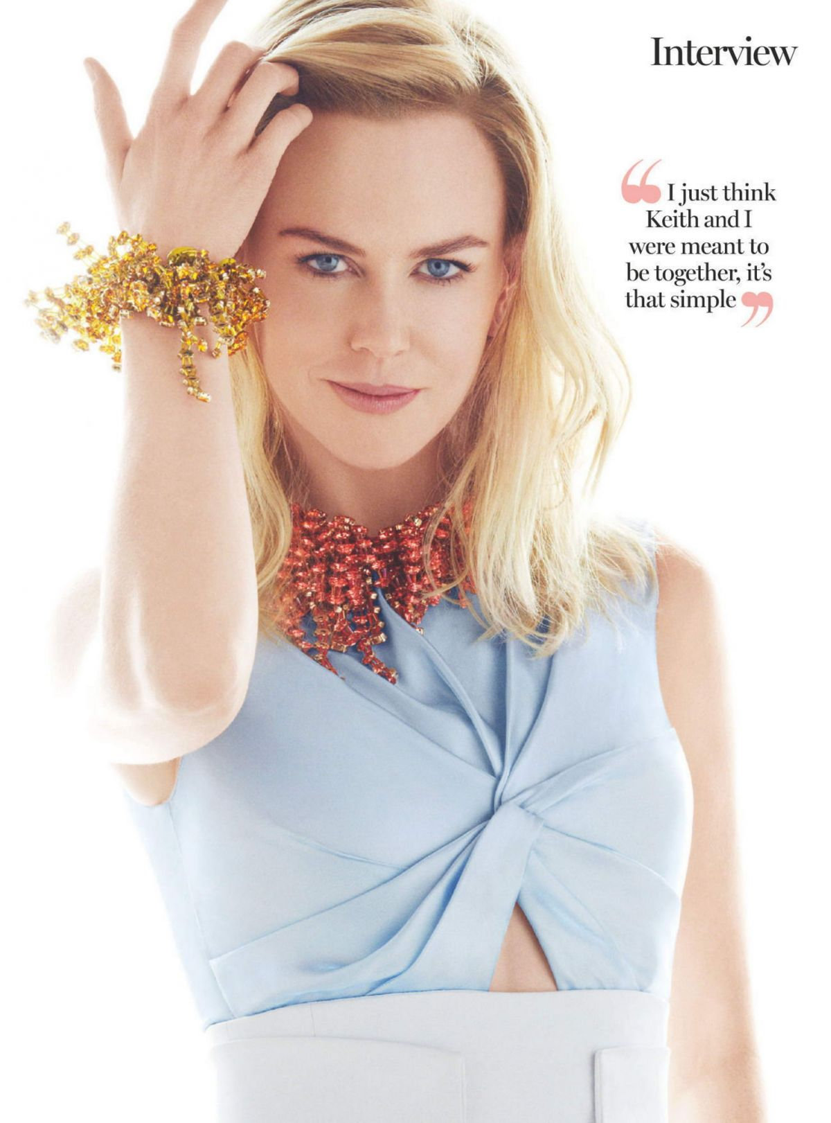 Exclusive: Nicole Kidman talks to Marie Claire foto