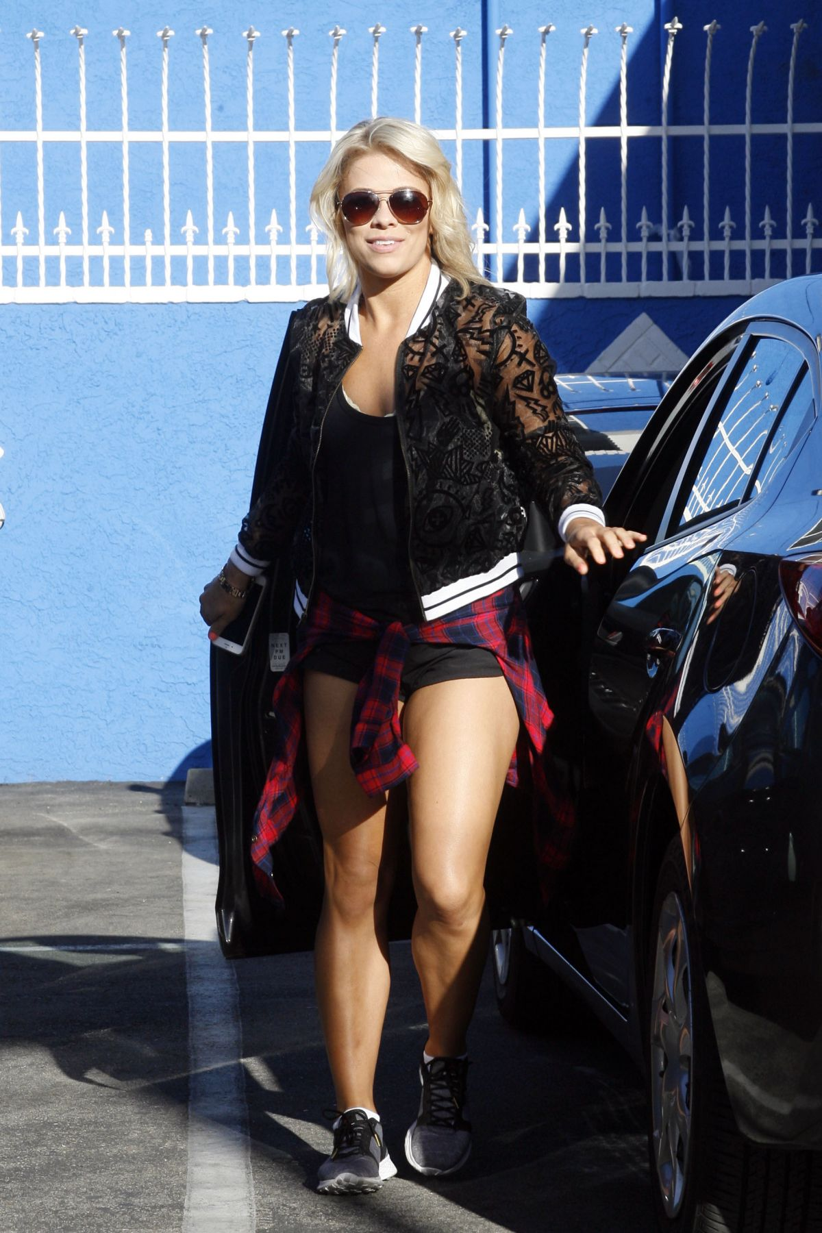PAIGE VANZANT at Dancing with the Stars Rehersal in ...