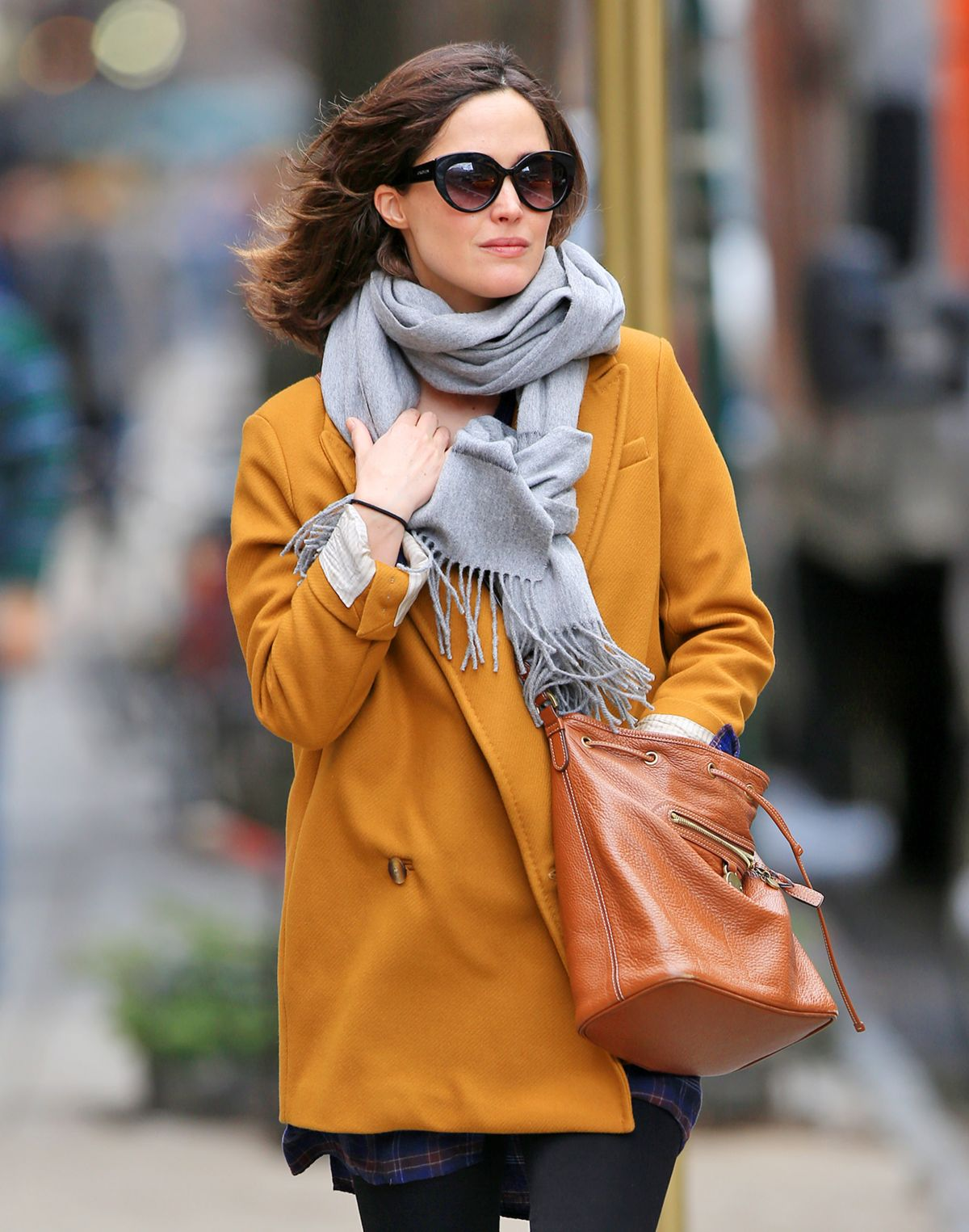 ROSE BYRNE Out and About inNew York 02/29/2016