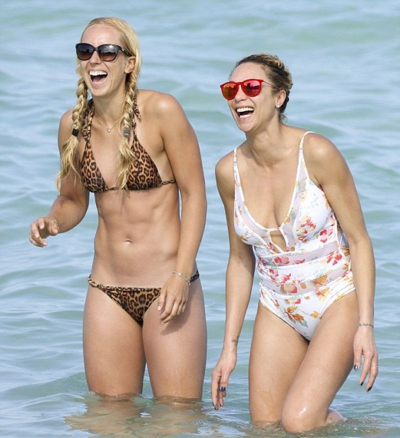 SABINE LISICKI in Bikini at a Beach in Miami 03/26/2016
