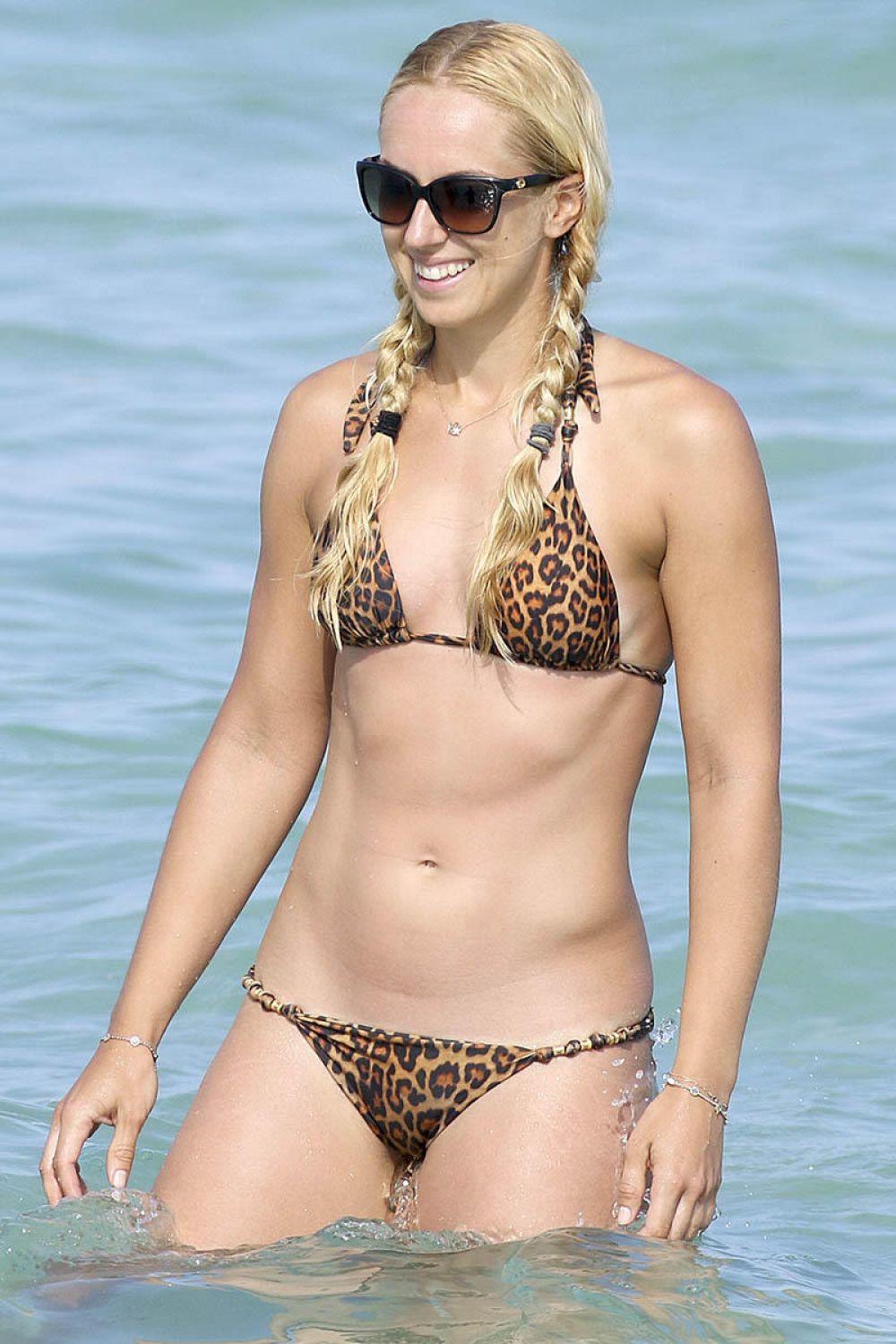 SABINE LISICKI in Bikini at a Beach in Miami 03/27/2016