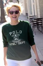 SHARON STONE Out anda About in Beverly Hills 03/18/2016