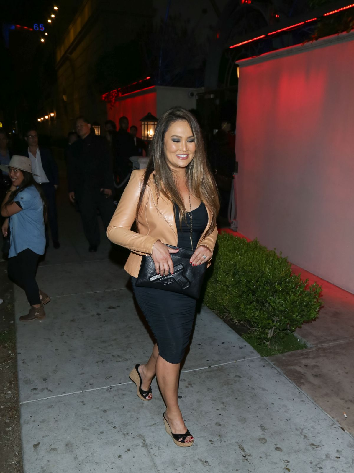 TIA CARRERE Arrives at Boulevard 3 Nightclub in Los Angeles 03/01/2016