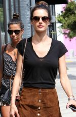ALESSAMDRA AMBROSIO in Skirt Out Shopping in West Hollywood 04/13/2016