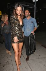 ALESSANDRA AMBROSIO Arrives at Her 35th Birthday Party Nice Guy in Hollywood  04/13/2016