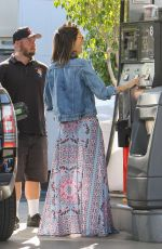 ALESSANDRA AMBROSIO at a Gas Station in Los Angeles 04/19/2016