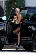 ALESSANDRA AMBROSIO in Tank Top and Shorts Out in Los Angeles 04/21/2016