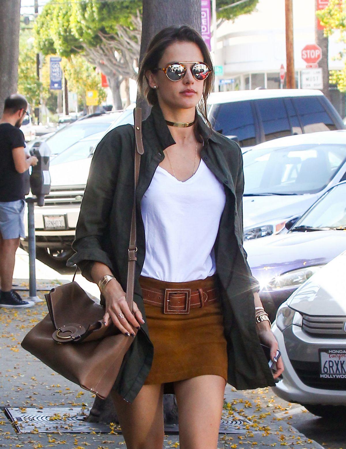 ALESSANDRA AMBROSIO Leaves Gracias Madre in Los Angeles 04/12/2016