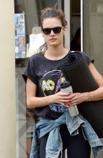 ALESSANDRA AMBROSIO Out in Brentwood 04/08/2016