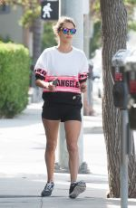 ALESSANDRA AMBROSIO Out in Brentwood 04/21/2016