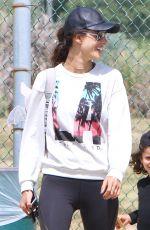ALESSANDRA AMBROSIO Out in Santa Monica 04/26/2016