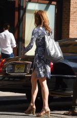 ALYSIA REINER Out and About in Tribeca 04/18/2016