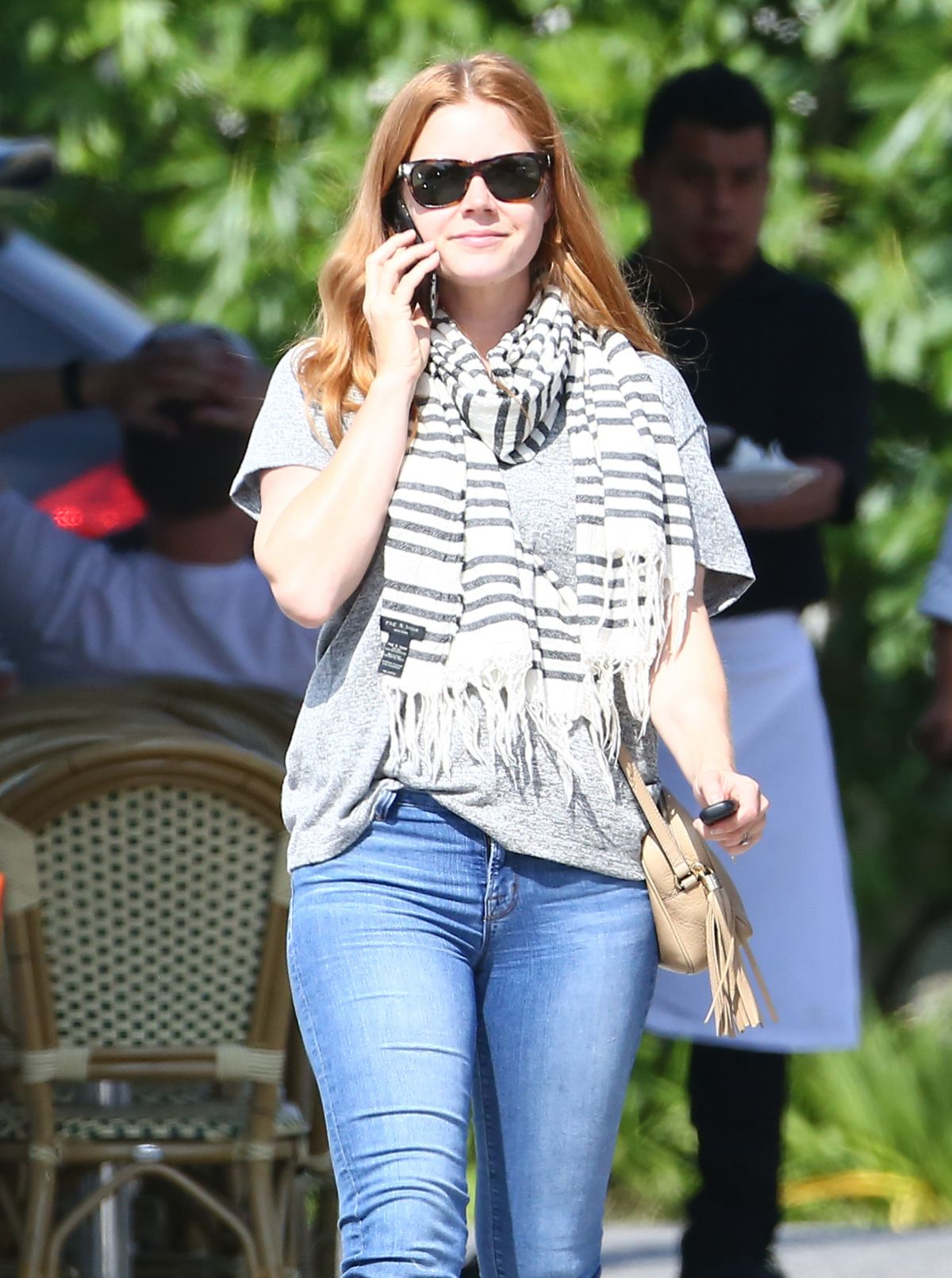 AMY ADAMS Out and About in Los Angeles 04/22/2016