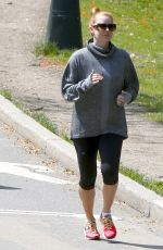 AMY ADAMS Out Jogging in New York 04/26/2016