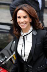 ANDREA MCLEAN Leaves ITV Loose Women Studios in London 04/18/2016