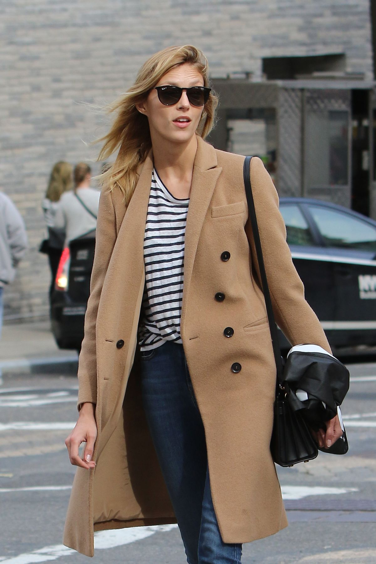 ANJA RUBIK Out and About in New York 03/31/2016