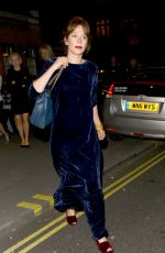 ANN FRIEL Leaves Chiltern Firehouse London 04/23/2016