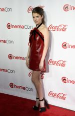 ANNA KENDRICK at Cinemacon Big Acreen Achievement Awards in Las Vegas 04/14/2016