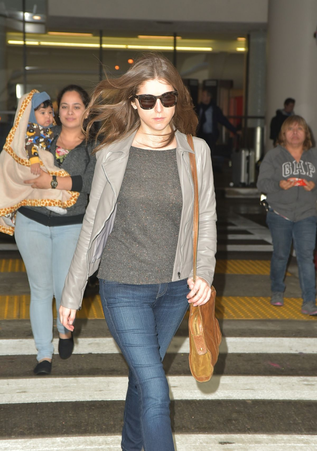 ANNA KENDRICK at Los Angeles International Airport 04/07/2016