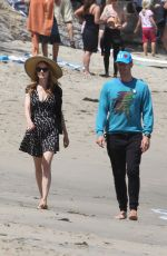 ANNABELLE WALLIS on the Beach in Malibu 04/24/2016
