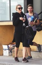 ASHLEE SIMPSON Leaves a Gym in Los Angeles 04/22/2016