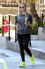 ASHLEY BENSON Out and About in West Hollywood 04/19/2016