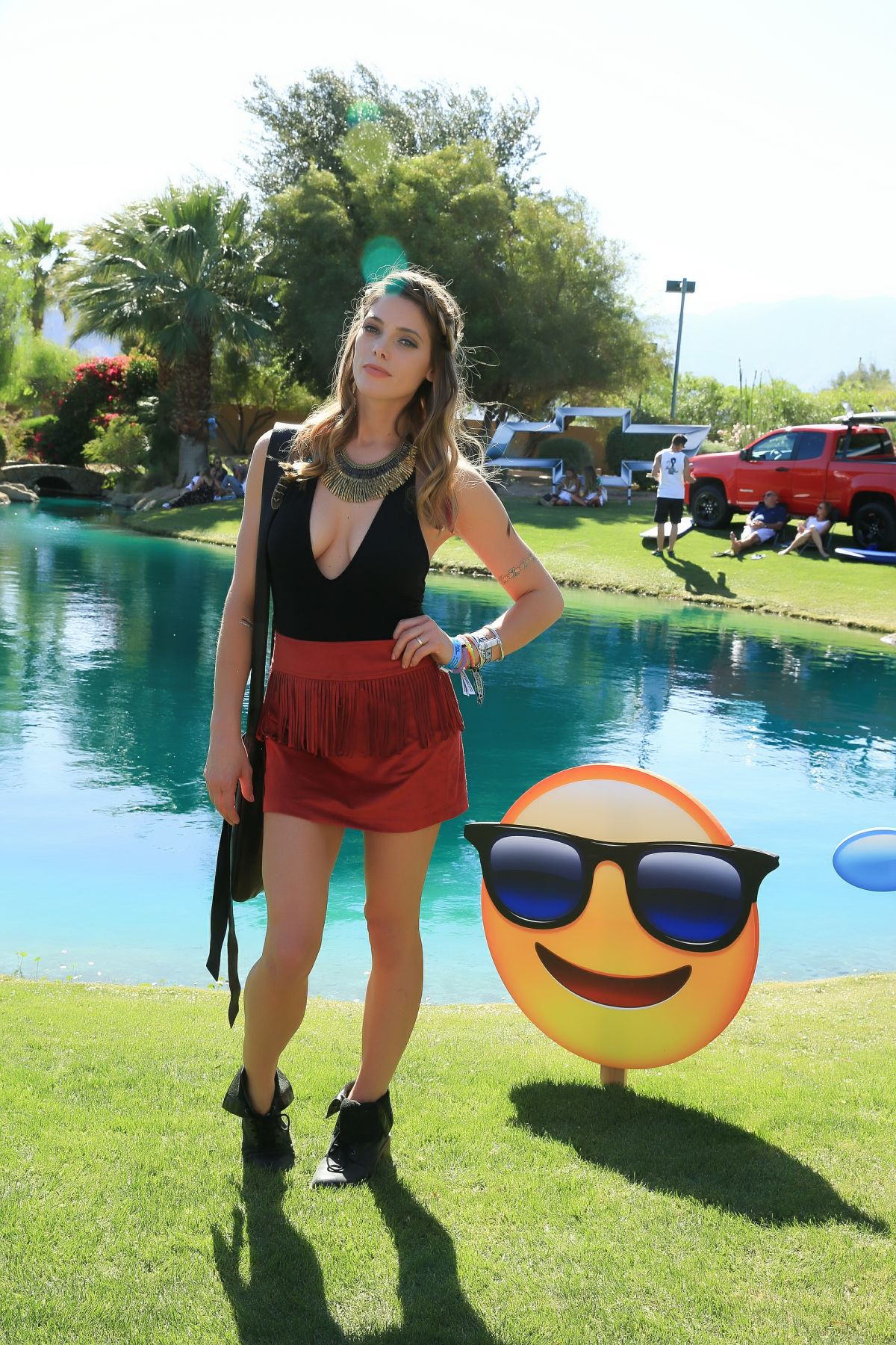 ASHLEY GREENE at Bootsy Bellows Pool Party in Rancho Mirage 04/16/2016