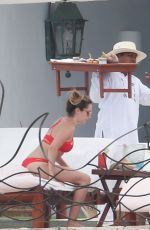 ASHLEY TISDALE in Bikini at a Pool in Cabo San Lucas 04/22/2016