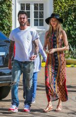 BEHATI PRINSLOO and Adam Levine Out in Pacific Palisades 03/28/2016