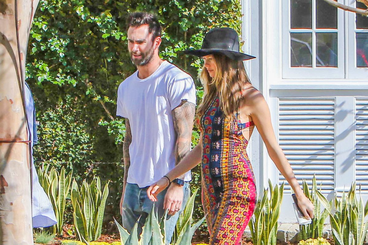 BEHATI PRINSLOO and Adam Levine Out in Pacific Palisades 03/28 ...