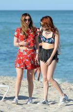 BELLA and DANI THORNE at a Beach in Miami 04/07/2016