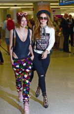 BELLA and DANI THORNE at LAX Airport in Los Angeles 04/06/2016