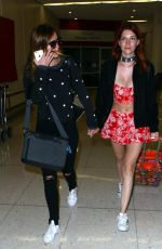 BELLA and DANI THORNE at Los Angeles International Airport 04/08/2016