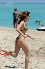 BELLA and DANI THORNE in Bikinis on the Beach in Miami 04/08/2016