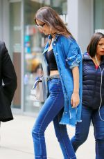 BELLA HADID Out and About in New York 04/28/2016
