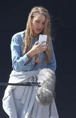 BLAKE LIVELY on the Set of