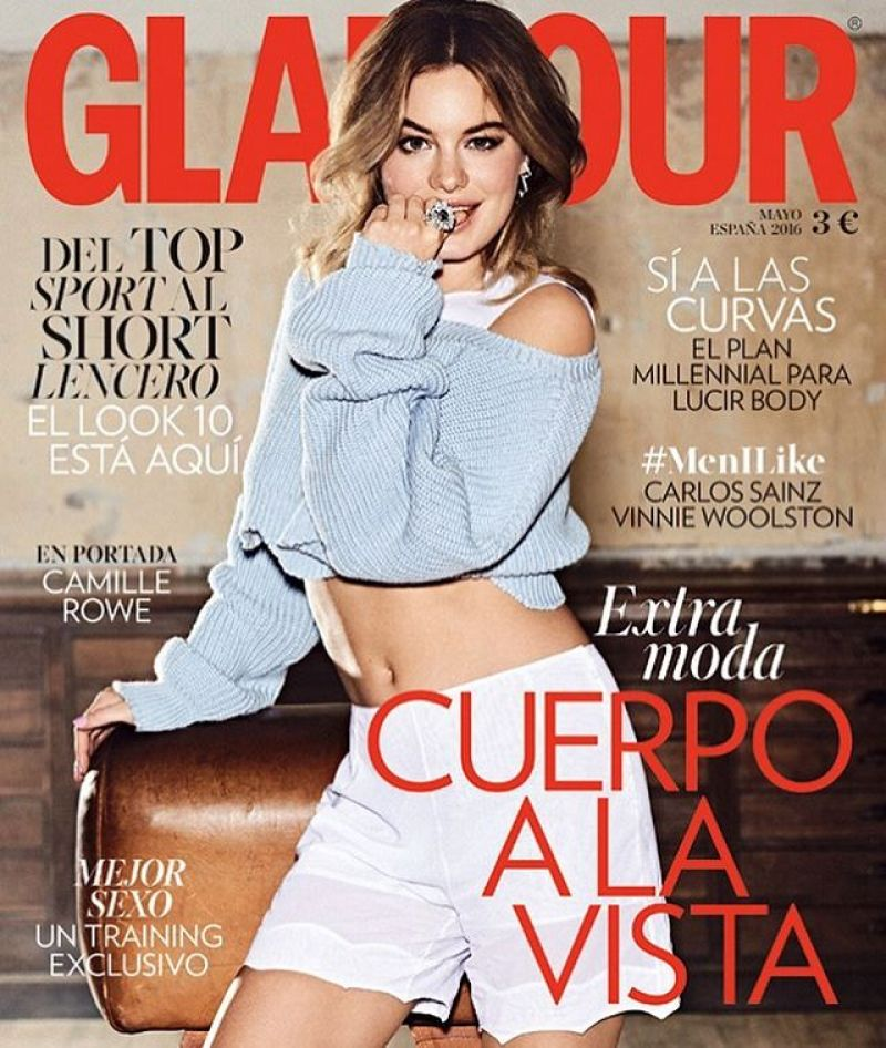 CAMILLE ROWE in Glamour Magazine, Spain May 2016 Issue