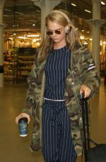 CARA DELEVINGNE at Eurostar Terminal in London 04/22/2016