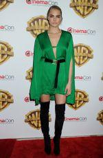 CARA DELEVINGNE at Warner Bros. Presentation at Cinemacon 2016 in Las Vegas 04/12/2016