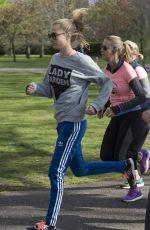 CARA DELEVINGNE Running Lady Garden 5km Race in Battersea Park in London 04/23/2016