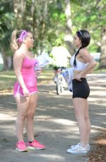 CARMEN VALENTINA nad CLEO on the Set of a Photoshoot at a Park in Miami 04/20/2016