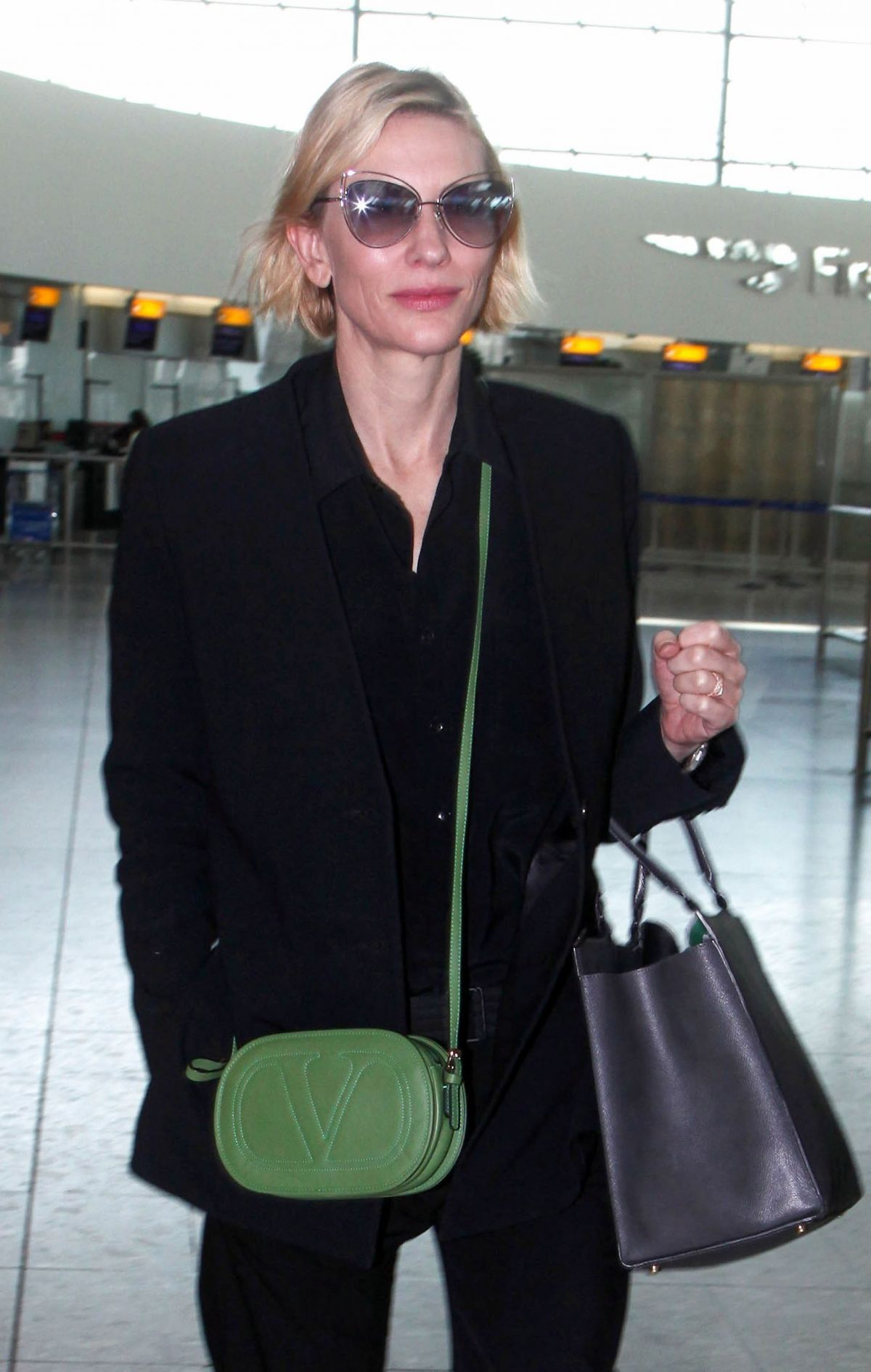 CATE BLANCHETT at Heathrow Airport in London 04/20/2016