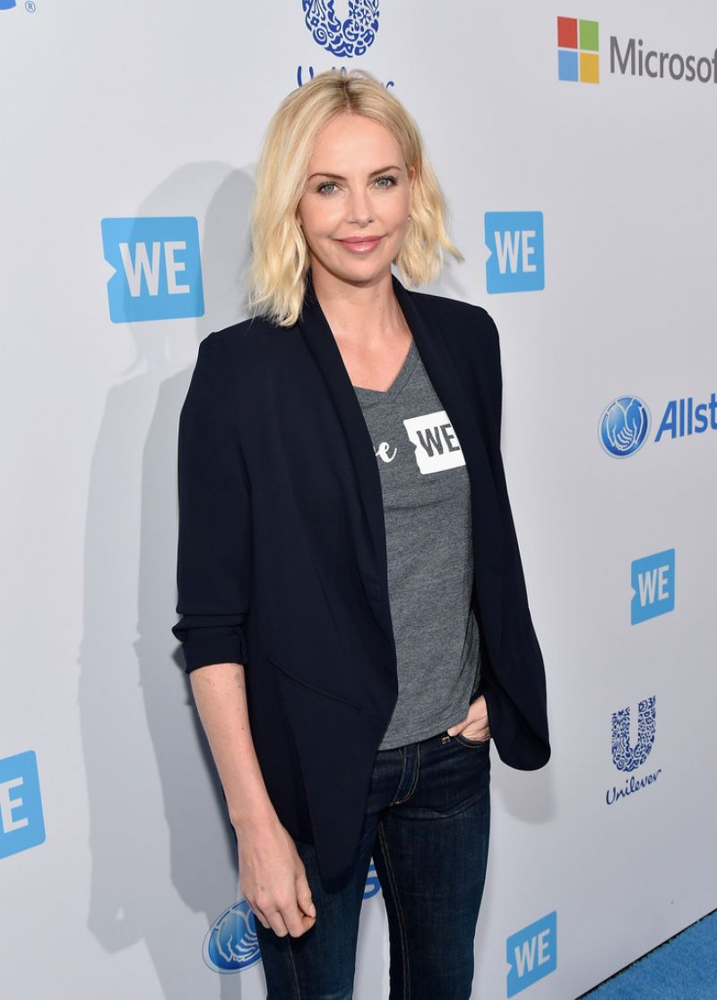 CHARLIZE THERON at We Day California in Inglewood 04/07/2016