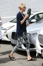 CHARLIZE THERON Out in Beverly Hills 04/06/2016