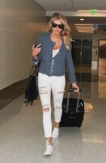 CHARLOTTE MCKINNEY at Los Angeles international Airport 04/27/2016