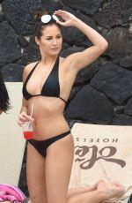 CHLOE GOODMAN in Bikini at a Pool in Lanzarote 04/16/2016