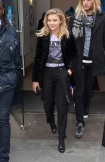 CHLOE MORETZ Arrives at Capital Radio in London 04/25/2016